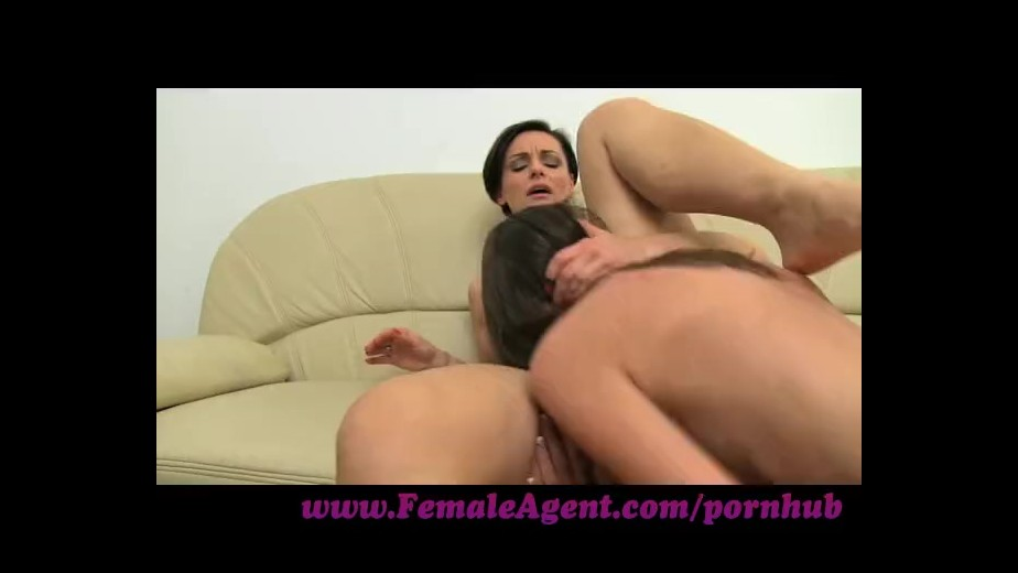 Femaleagent sexy agent slides her fingers deep inside 3