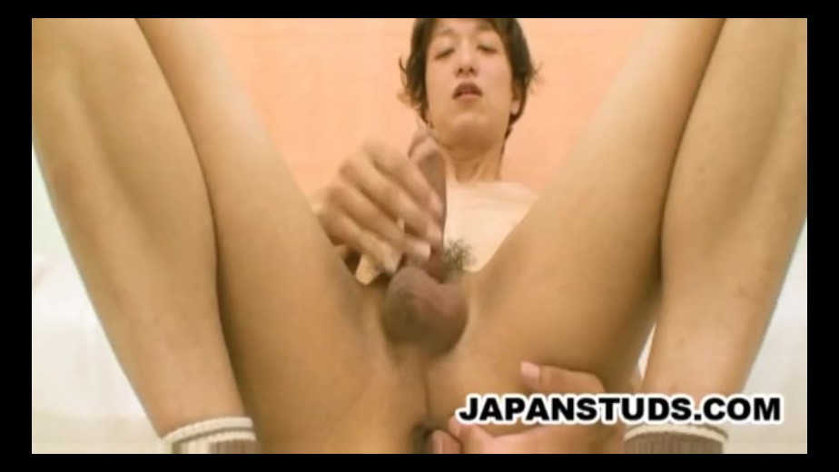 Kazuyuki adachi mature japanese dude wanking his woody