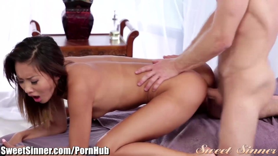 Sweetsinner alina li massage table doggystle 7