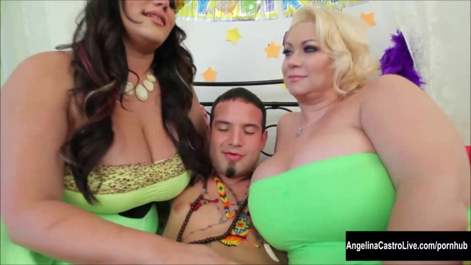 Angelina castro bbw birthday 3way treat