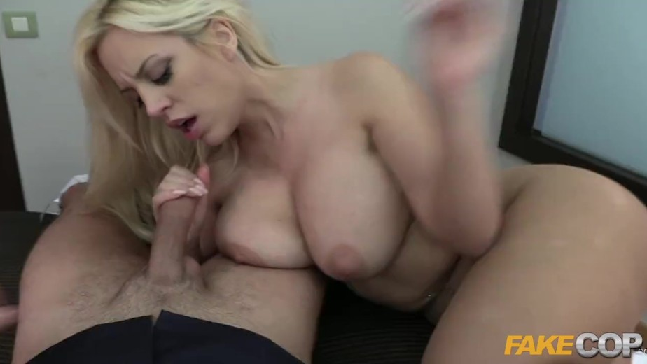 Fake cop lucia takes a policemans helmet deep in her arse 6