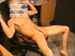 Husband jerking off to videos of his wife on pornhub. Cumshot compilation.