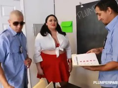 Slut Big Tit Student Julia Sands Doubled Teamed by Teachers
