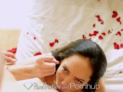 HD PureMature - Brunette milf Bella gets ready for her man on Valentine's D