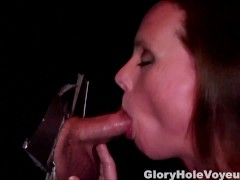 House Wife Suck Small Cock in Gloryhole