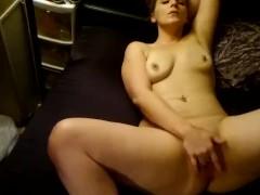 Sexy girl masturbating till orgasm