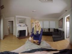 Wankz VR - Threesome involving two big tittied blonde milfs in VR
