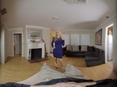Wankz VR - Threesome involving two big tittied blonde milfs in VR