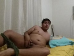 Chub Boy Fucks Bed and Cums for Buddy (request)