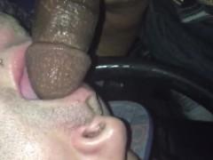 Sucking discreet black thug