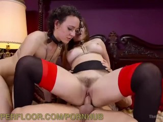 Photographer steps in for bdsm threesome