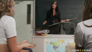 SEXY Asian French teacher Katsuni punishes two slutty students
