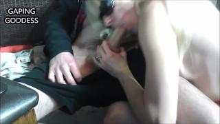 Kaori exposes her hot tits and sucks boner an 8