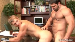 hefty gay gets ass penetrated in the office – Gay Porn Video