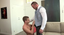 dylanlucas suited up daddy takes control over twink – Porn Video