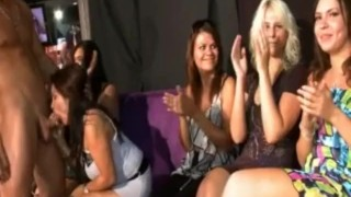 SEXY DRUNK BRUNETTES SUCK STRIPPER DICK