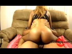 Ghetto Dick Riding SexTape WIth Hot Ebony MIlf