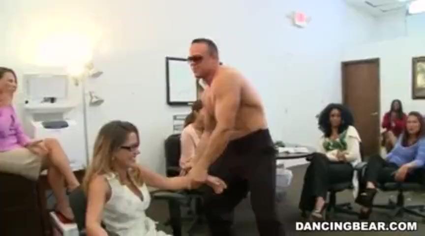 blonde sucks stripper cock