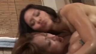 Two Big Tits Asians Massage And Cum On a Client  handjob 3some tits big-tits huge-tits soapymassage threesomes cumshot asian fetish cum