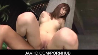 Hot asian milf Riona Suzune gets a creamed pussy  japanese housewife lingerie shaved-pussy blowjob busty