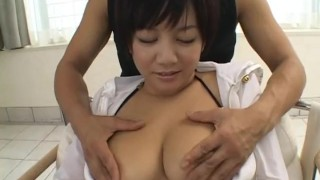 Cute Meguru Kosaka big tits action asian cumshot japanese threesome asian blowjob