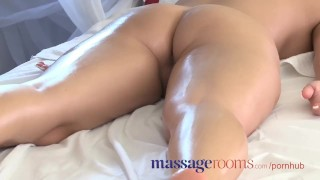 Massage Rooms Powerful g-spot orgasm for her little pussy