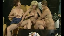 A card game turns into some lesbian fun for these grannies