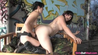 Cute hairy lesbian fucked with a strapon  strapon licking hairy girlsoutwest dildo lesbians amateur strap-on hairy-pussy lesbian amateurs babes fingering lesbian-sex toy girls-out-west