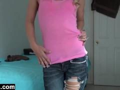 Bored Schoolgirl Strips For Kicks