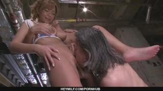 Busty MILF Sumire Matsu Slammed In A Threesome  japanese milf hardcore mother asian oriental mom