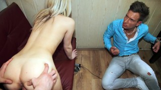 Make Him Cuckold - Unfaithful bf becomes a cuckold  ass tied pussy-eating cuckold trimmed makehimcuckold sexy blowjob cumshot tattoo voyeur natural-tits butt petite european doggystyle