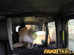 FakeTaxi Big cock fills a big mouth