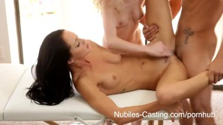 Preview 6 of Nubiles Casting - Will jizz on her face and tits earn her the job?