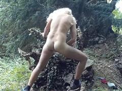 Spritzen im Wald