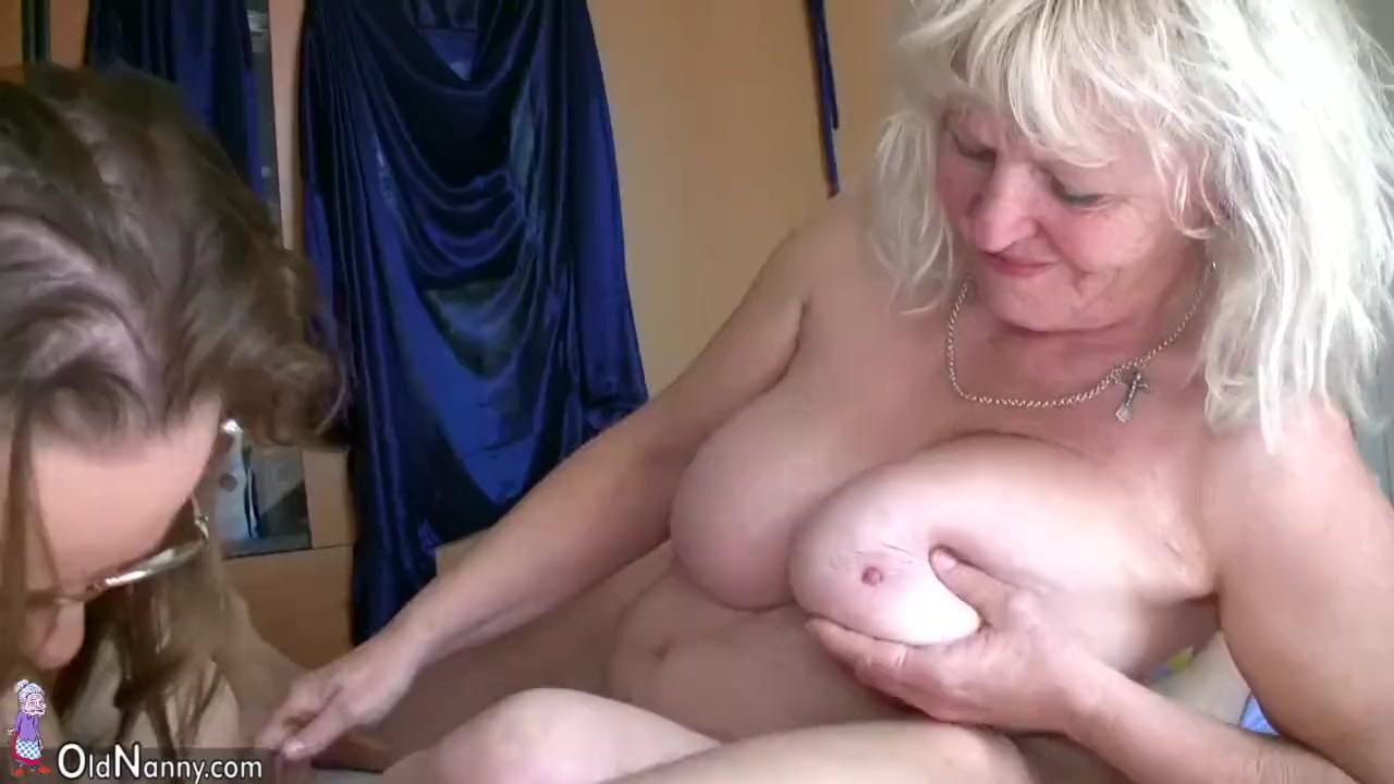 Old big fat woman granny has fun