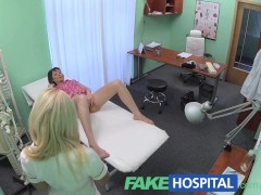 FakeHospital Patient wants advice on dildo stuck inside her pussy