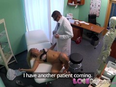 Love Creampie Squirting blondes tight pussy makes doctor explode cum inside