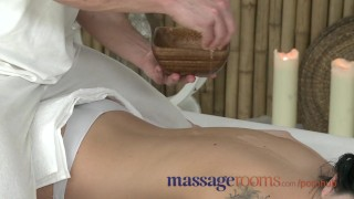 Preview 1 of Massage Rooms Oiled teen beauty gets a big cock slid inside her pussy