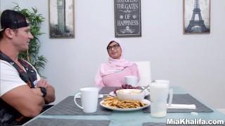 Mia Khalifa stepmom Juliana Vega fucks and sucks her boyfriends cock  big-cock big-tits arabic hijab big-ass mom blowjob milf reverse-cowgirl religious 3some muslim babes mother threesome step-mom