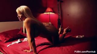 Hot Blonde masturbates