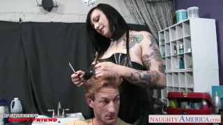 Preview 1 of Hot busty brunette Scarlet LaVey fucking
