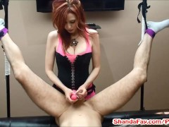 Hot MILF Shanda Fay Pegging Man in His Ass with HUGE Vibrator!?