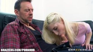 Preview 5 of Brazzers - Cute blonde with braces takes big cock