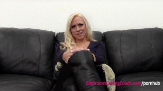Incredible Big Tits MILF Creampie on Casting Couch