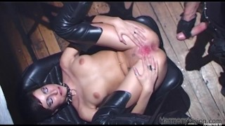 HARMONY VISION Anal Fucking Alicia Rhodes with strapon  british big-cock strapon bdsm big-tits cumshot big-boobs english cum-on-pussy toys ass-fuck kink lesbian brunette ass-fucking big-natural-tits fingering harmonyvision big-dick alicia-rhodes