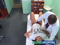 FakeHospital Hot black haired mom cheats on hubby with doctor