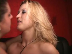 BBW and hot hanger tits blonde MILF have sweaty sex in club Longest upload