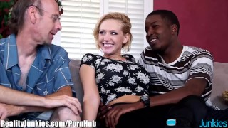 Kagney Linn Karters Black Cocked Cuckold  bbc big-cock interracial-cuckold big-tits cuckold blowjob blonde cumshot big-boobs fake-tits big-black-cock interracial reverse-cowgirl open-mouth-cumshot shaved realityjunkies