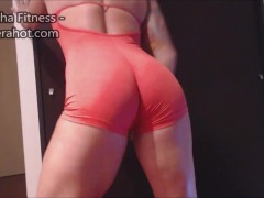 Asshole close up - Spandex, mini skirt, fingering, big clit and asshole