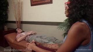 Gorgeous Ebony Femdom Therapy ebony domination rough femdom divinebitches black kink dominatrix slave bdsm bondage interracial pussy brunette cuckold humiliation